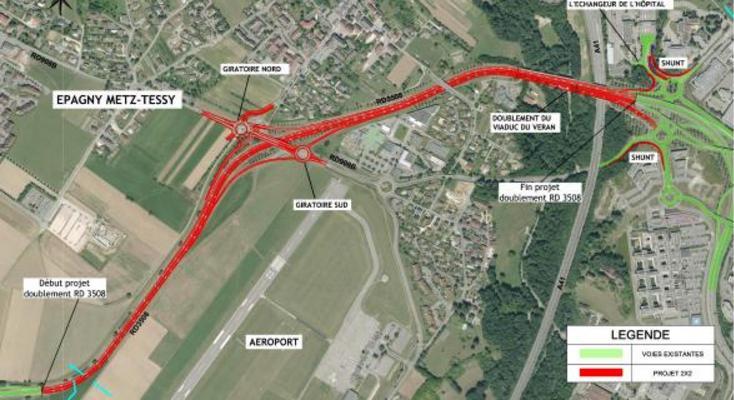 Une double voie pour accéder à Annecy, enfin le début des travaux plannifié